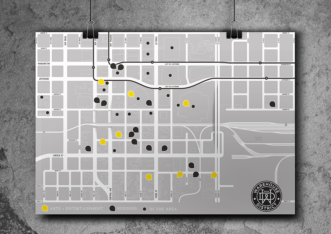 phoenix warehouse district, graphic design phoenix, graphics, branding, downtown phoenix design, arizona branding
