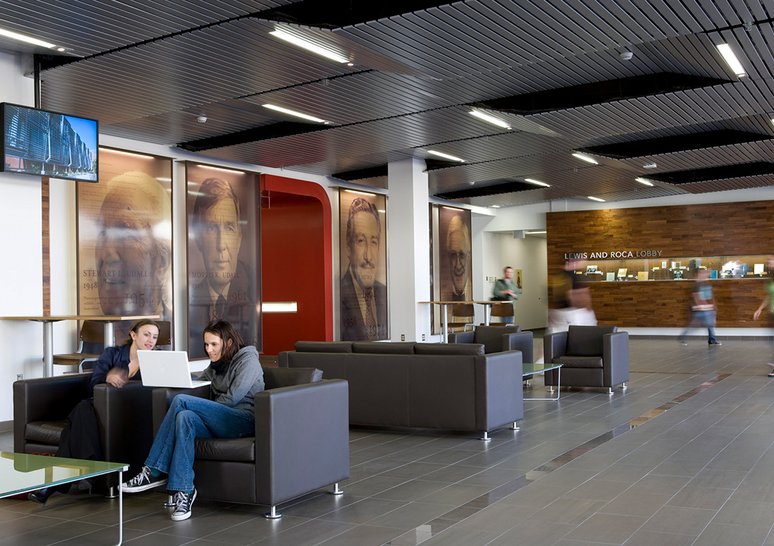 The James E. Rogers College Of Law At The University Of Arizona Illustrates  The Complete Integration Of Architecture, Interiors, And Graphic Design.