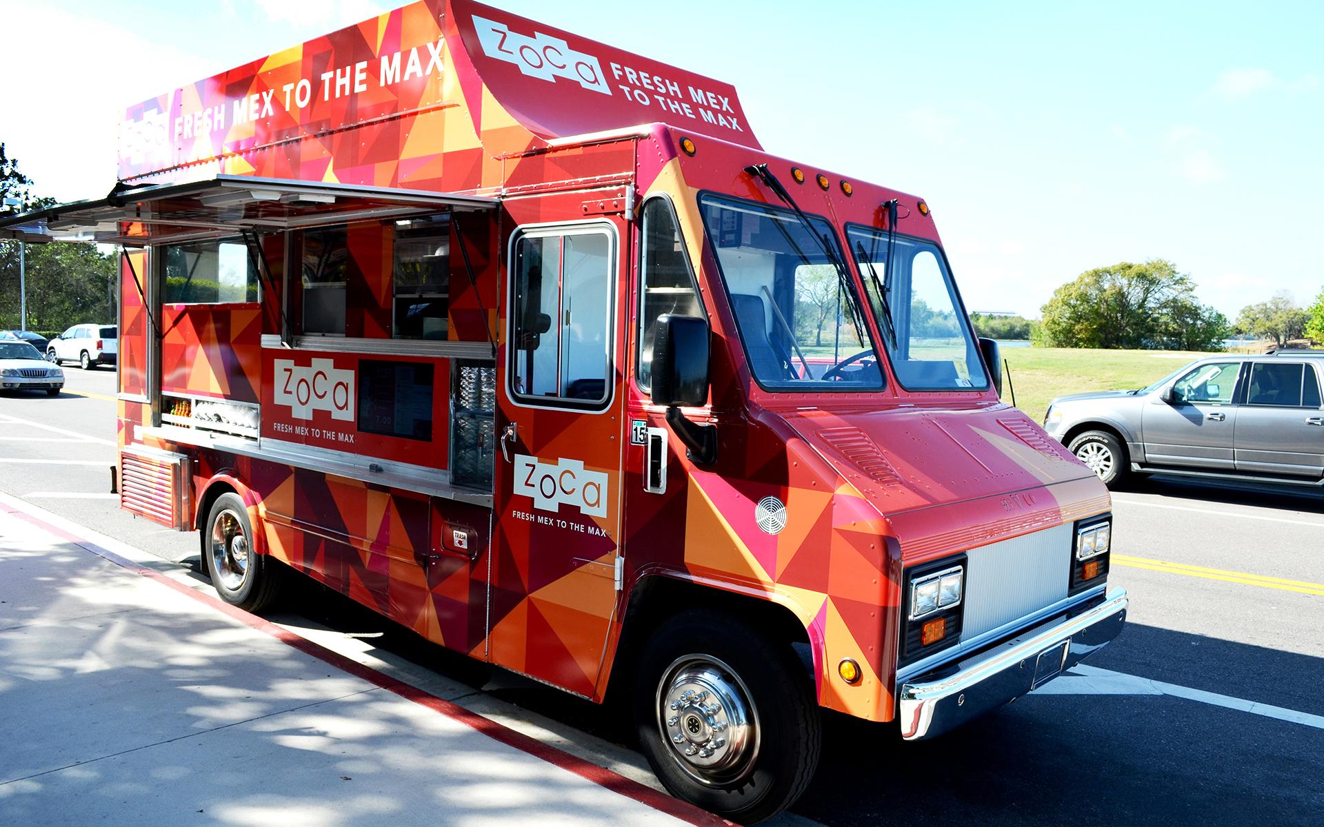 aramark, retail design, food service design phoenix, food truck graphic wrap, food truck branding, zoca, supergraphics, car design phoenix