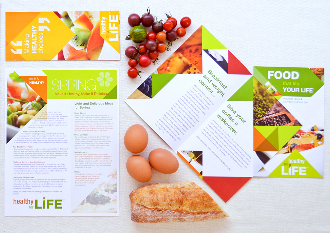 canary studio, gould evans, gould evans and canary, gould evans + canary, aramark, healthy for life, healthy living, healthy eating, design, brochure design, branding, healthy for life branding, branding, graphics, signage, food design, food collateral design, food service design, hospitality design phoenix