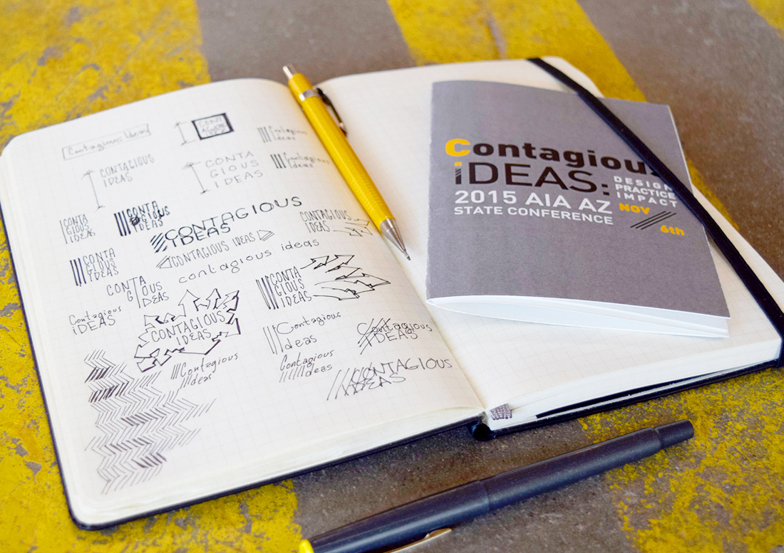 graphic design, design phoenix, AIA phoenix, AIA Conference Phoenix, brochure design