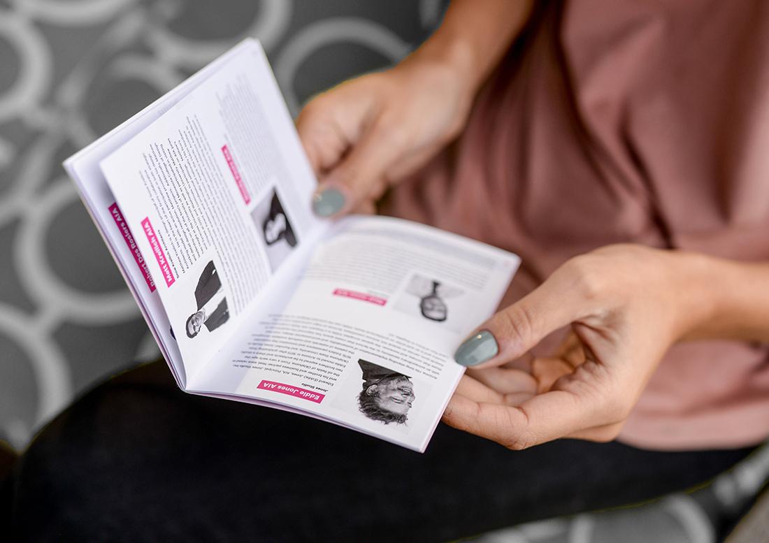boundaries, graphic design, design phoenix, AIA phoenix, AIA Conference Phoenix, brochure design